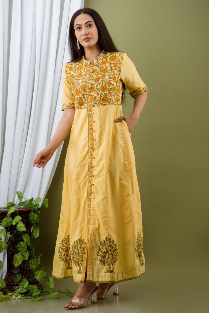Limelite Chanderi Dress