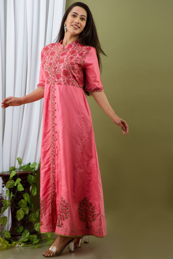 Tipsy Chanderi Dress