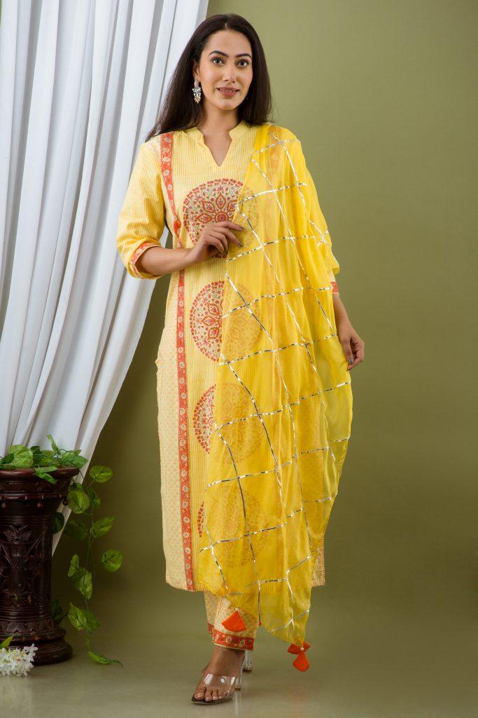 Pine Yellow Suit Set